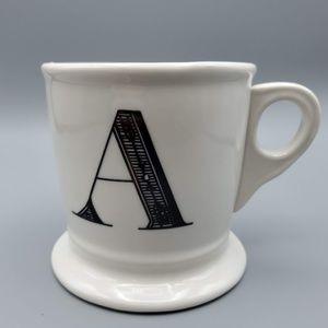 Anthropologie Monogram Initial A Mug